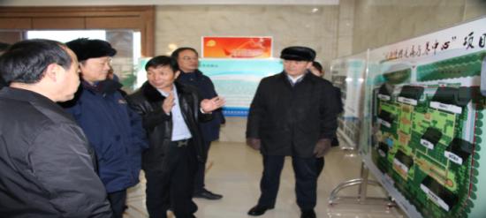 旺源集团董事长陈钢粮汇报康养中心筹建情况。