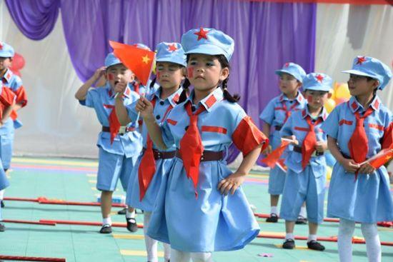新疆儿童庆六一团体操比赛